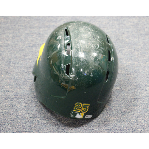 2017 Ryon Healy Game-Used Helmet
