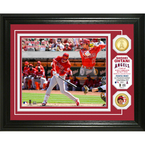 Photo of Shohei Ohtani MLB 1st Hit Bronze Coin Photo Mint