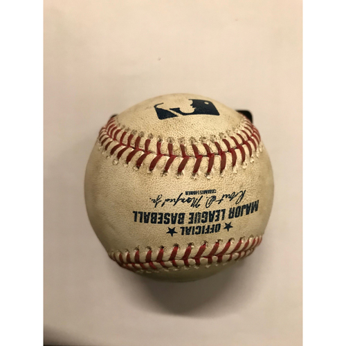 Photo of Kris Bryant Game-Used Hit Single, Anthony Rizzo Foul Ball- May 15, 2018