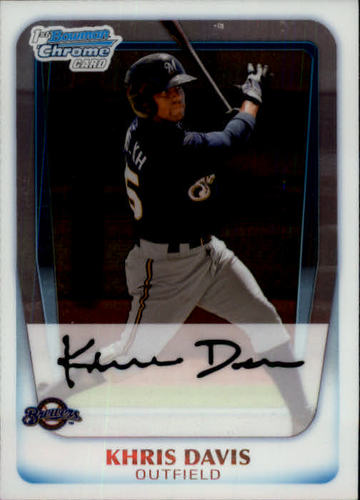 Photo of 2011 Bowman Chrome Prospects  Khris Davis
