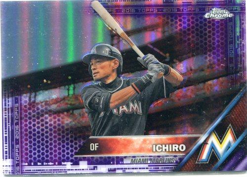 Photo of 2016 Topps Chrome Purple Refractors #116 Ichiro