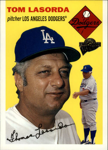 Photo of 2003 Topps All-Time Fan Favorites #82 Tom Lasorda -- Hall of Fame Class of 1997