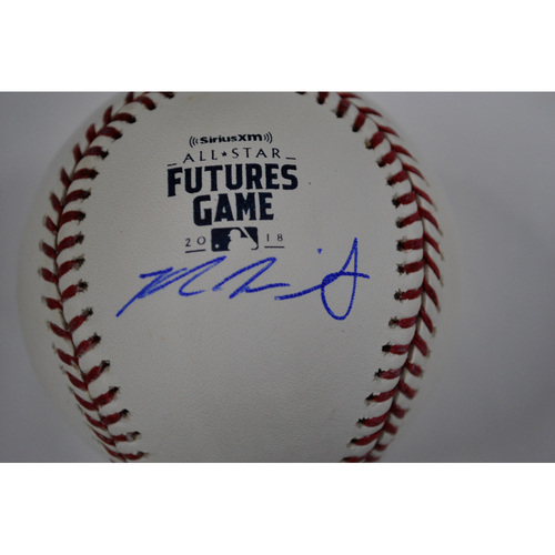 Photo of Kyle Wright Autographed 2018 Futures Game Baseball