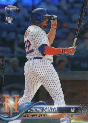 Photo of 2018 Topps Chrome #162 Dominic Smith RC