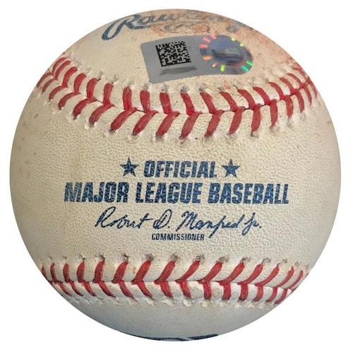 Photo of Game-Used Baseball from Pirates vs. Reds on 9/3/18 - Phillip Ervin Single