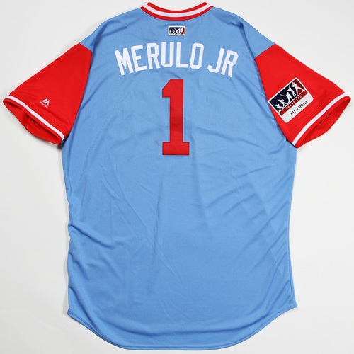 "Photo of Elvis ""Merulo Jr"" Andrus Texas Rangers Game-Used 2018 Players' Weekend Jersey"