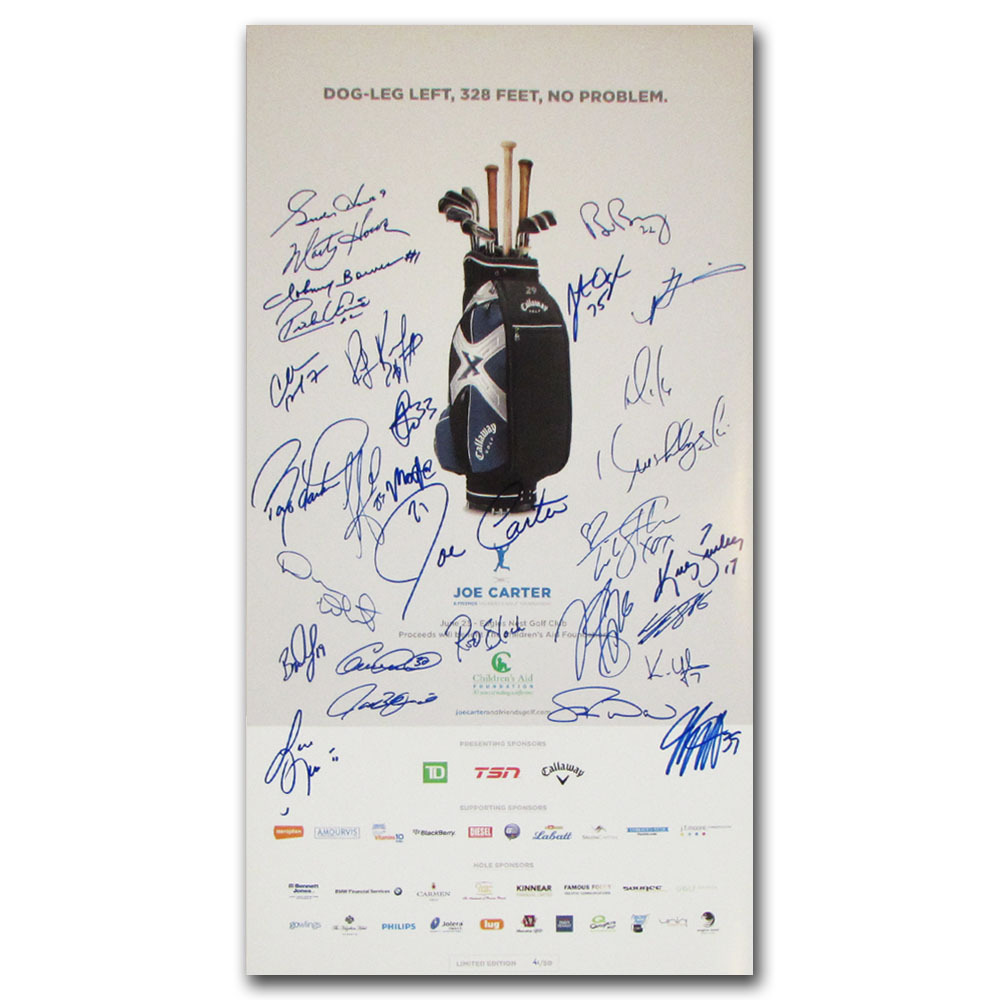 2010 Joe Carter Classic Golf Tournament Poster - Signed by 27 Athletes & Celebrities
