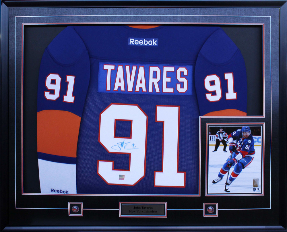 John Tavares Signed Jersey Framed with 8x10 Replica Reebok Blue Islanders