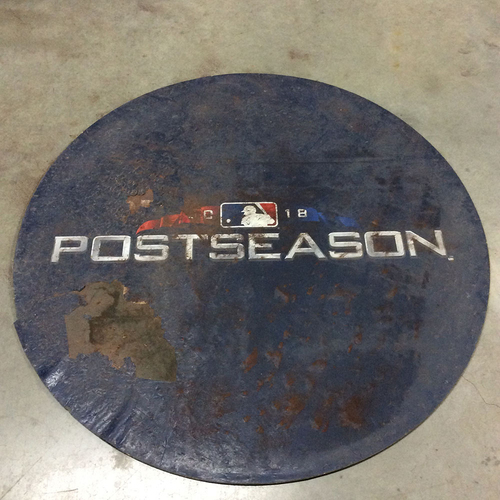 Photo of Game-Used 2018 Postseason Home Side On Deck Circle (LOCAL PICKUP ONLY) - Includes NLCS Game 7