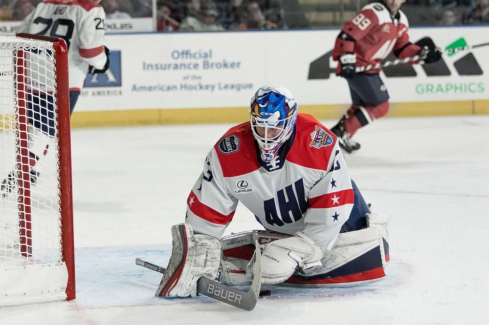 2019 Lexus AHL All-Star Challenge Jersey Worn & Signed by #33 Samuel Montembeault