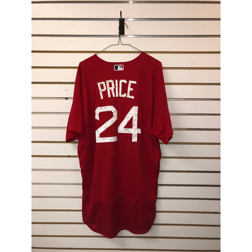 Photo of David Price Team-Issued 2018 Spring Training jersey