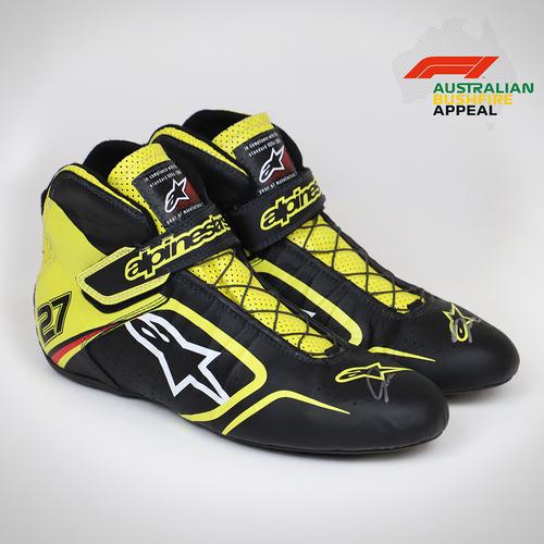 Photo of Nico Hulkenberg 2019 Signed Race Boots
