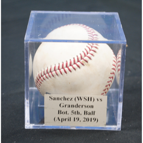 Photo of Game-Used Baseball: Anibal Sanchez (WSH) vs Curtis Granderson, Bot. 5th, Ball (April 19, 2019)