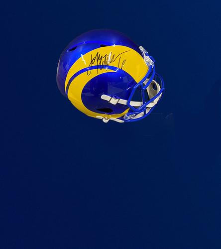Photo of Johnny Hekker Signed Speed Replica Helmet