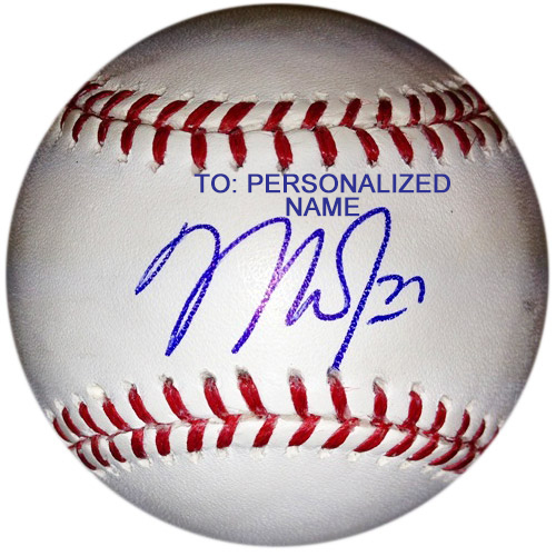 Photo of *PERSONALIZED* Mike Trout Autographed Baseball (To: Personalized Name) - Signing May, 2021