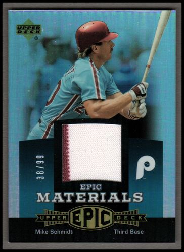 Photo of 2006 Upper Deck Epic Materials Teal #MS1 Mike Schmidt Jsy/99