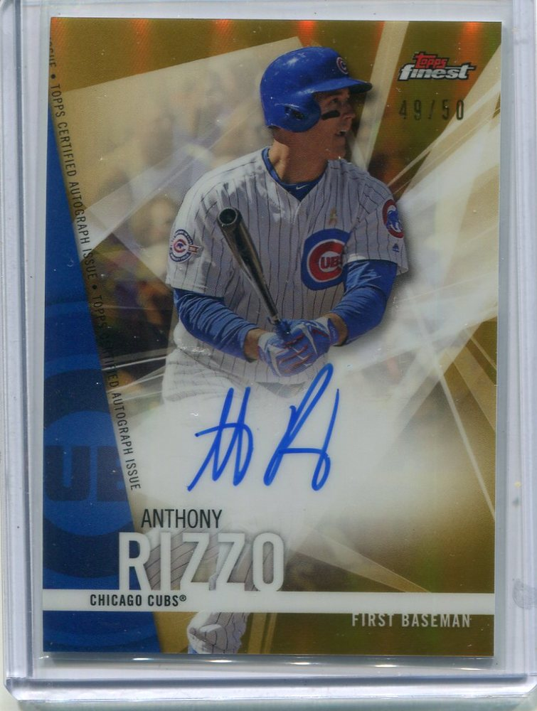 2017 Finest Autographs Gold Refractors 49/50 Anthony Rizzo