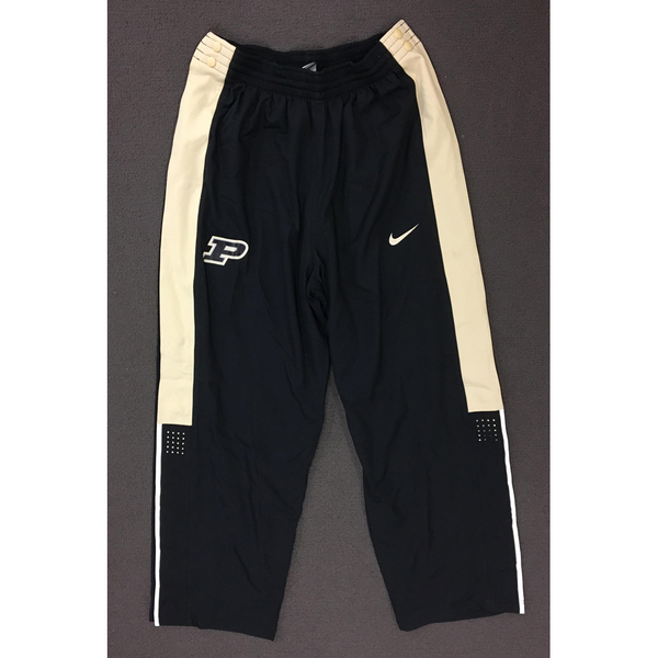 Photo of Purdue Sweat Pants Black Nike Button Down with Gold Side Stripe Size XL