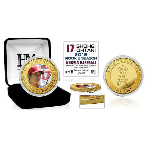 Photo of Shohei Ohtani MLB Rookie Season Gold Color Coin