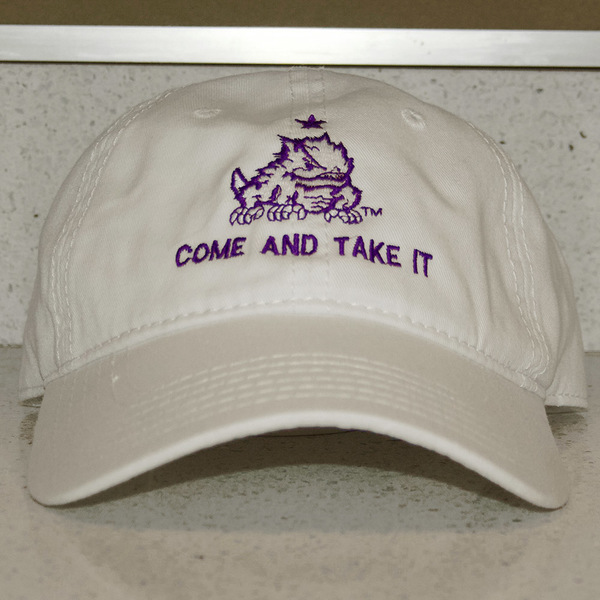"Photo of TCU Baseball White ""Come and Take It"" Hat (A)"