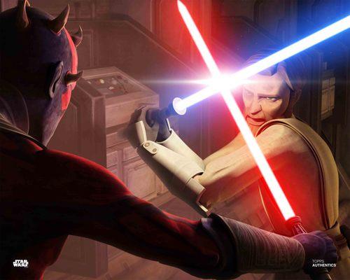 Darth Maul and Obi Wan Kenobi