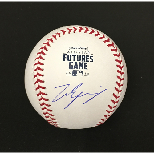 Photo of Matt Manning Autographed 2018 Futures Game Baseball