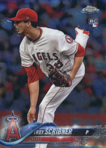 Photo of 2018 Topps Chrome #164 Troy Scribner RC