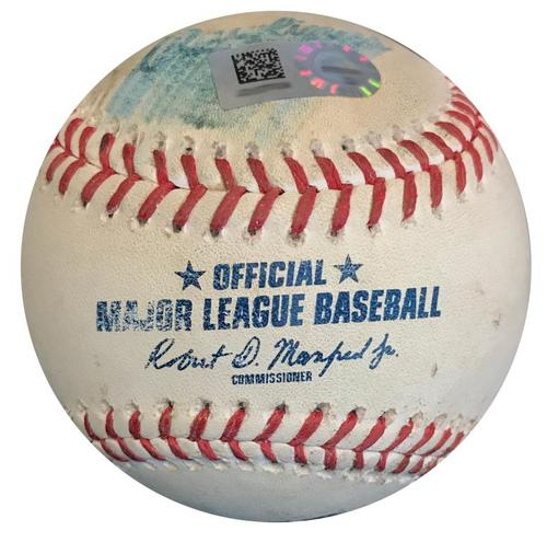 Photo of Game-Used Baseball from Pirates vs. Reds on 9/3/18 - Kevin Newman Single