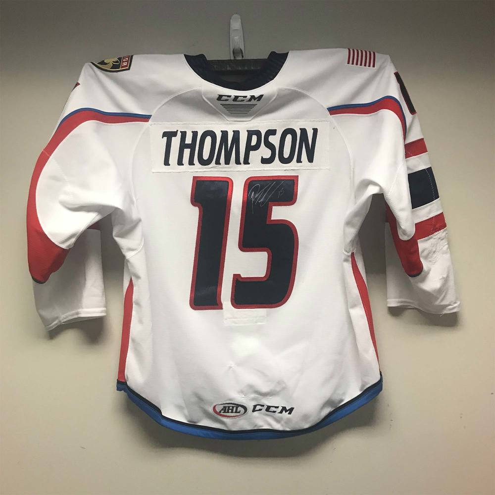 Springfield Thunderbirds Captain's Jersey worn and signed by #15 Paul Thompson