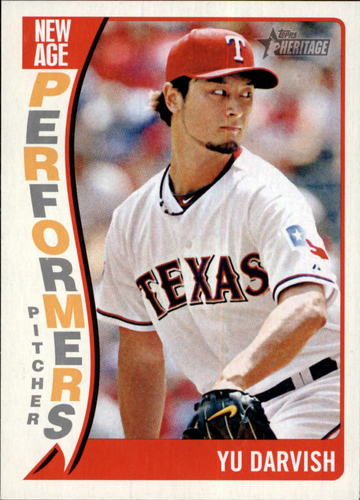 Photo of 2014 Topps Heritage New Age Performers #NAPYD Yu Darvish