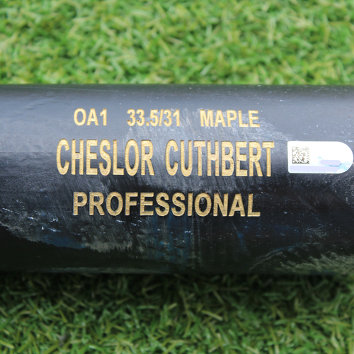 Team-Issued Broken Bat: MLB in Omaha - Cheslor Cuthbert