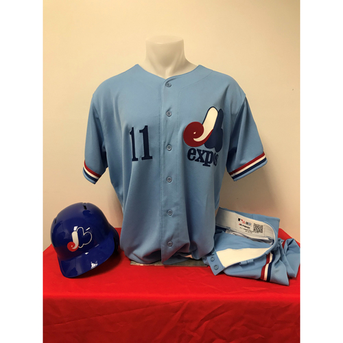 Photo of Ryan Zimmerman Expos Gear: Game-Used Jersey, Game-Used Pants, and Team-Issued Batting Helmet