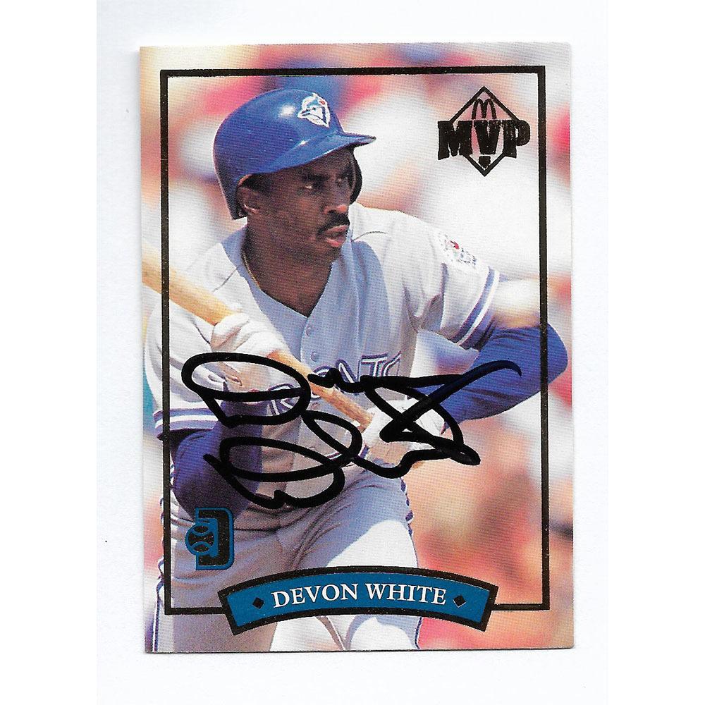 Devon White Autographed 1992 Donruss McDonald's Baseball Card