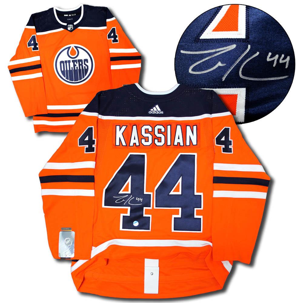 Zack Kassian Edmonton Oilers Autographed Adidas Authentic Pro Hockey Jersey