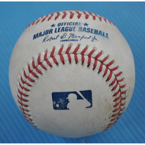 Photo of Game-Used Baseball - 2020 NLCS - Los Angeles Dodgers vs. Atlanta Braves - Game 3 - Pitcher: Grant Dayton, Batters: Will Smith (RBI Groundout), Cody Bellinger (Ball in Dirt) - Top 3