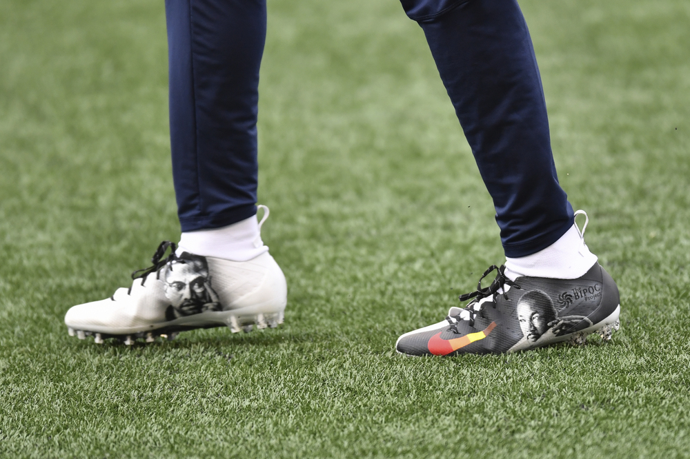 My Cause My Cleats - Seahawks Shaquill Griffin custom cleats - supporting The BIPOC Project