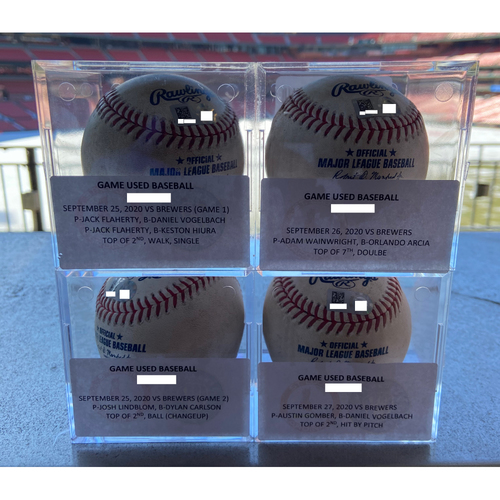 Photo of Cardinals Authentics: Game-Used Baseballs fom September 25th-27th.