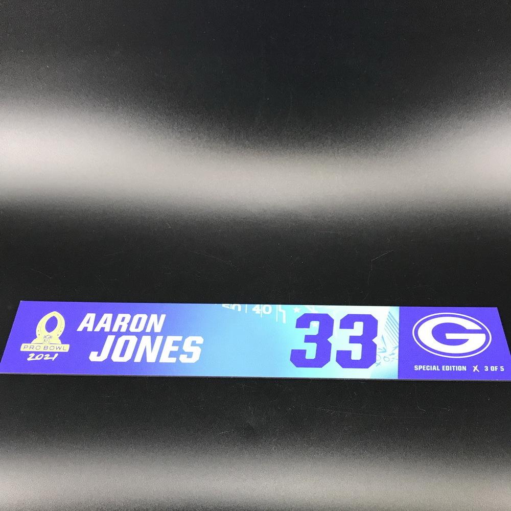 NFL - Packers Aaron Jones 2021 Pro Bowl Locker Nameplate Special Edition #3 of 5