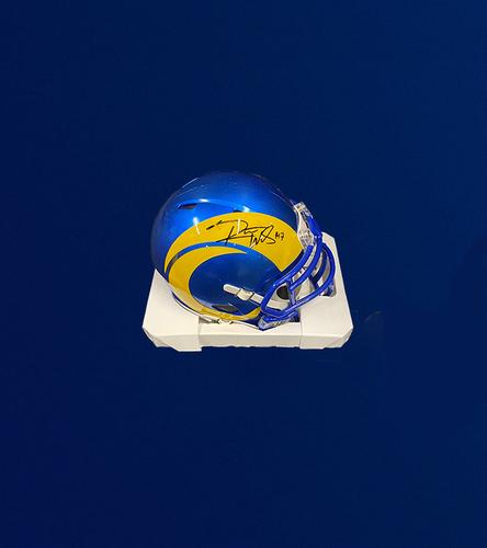 Photo of Robert Woods Signed Mini Helmet