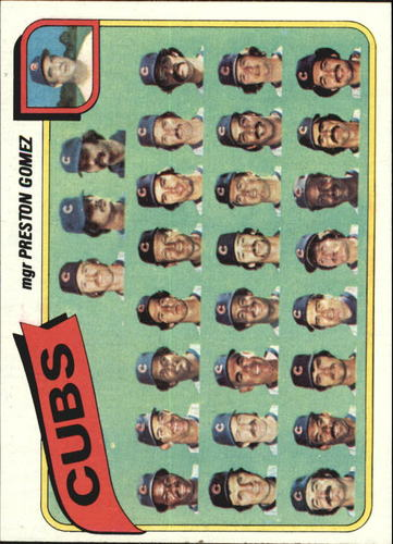 Photo of 1980 Topps #381 Chicago Cubs CL/Preston Gomez MG