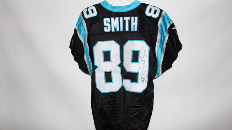 NFL Auction | STEVE SMITH SIGNED GAME ISSUED PANTHERS JERSEY ...