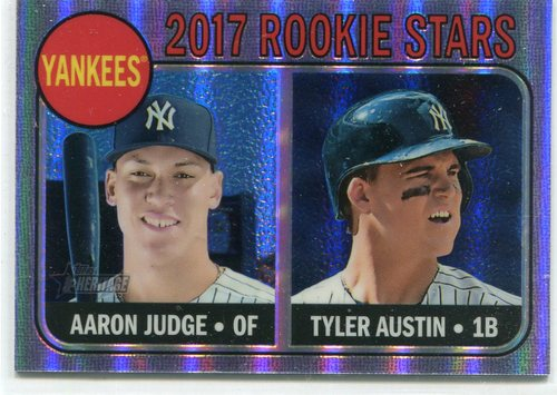 Photo of 2017 Topps Heritage Chrome Purple Refractors #214 Aaron Judge/Tyler Austin