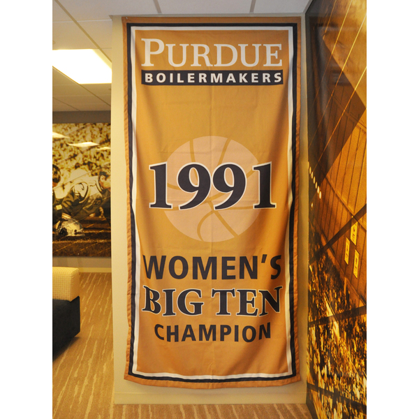 Photo of Mackey Arena Banner: Women's Basketball 1991 B1G Champs