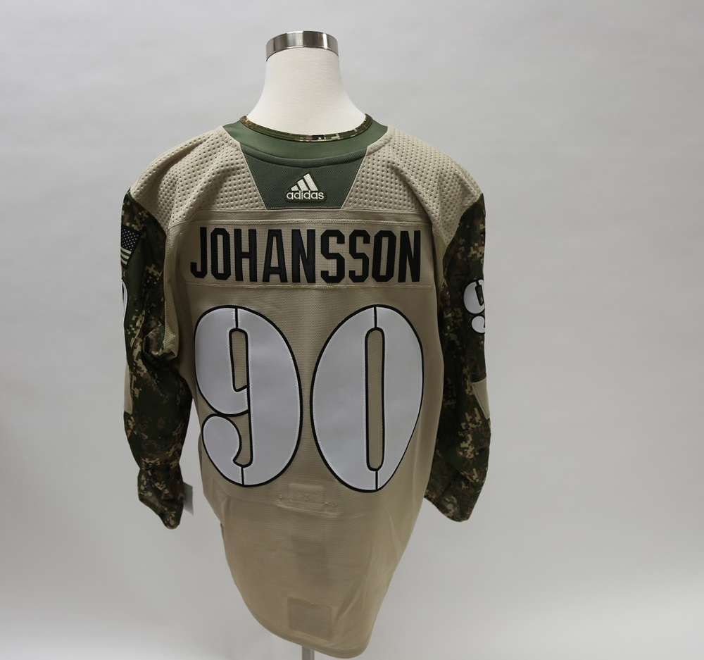 Marcus Johansson Military Appreciation Camo Warm-Up Issued Autographed Jersey - New Jersey Devils