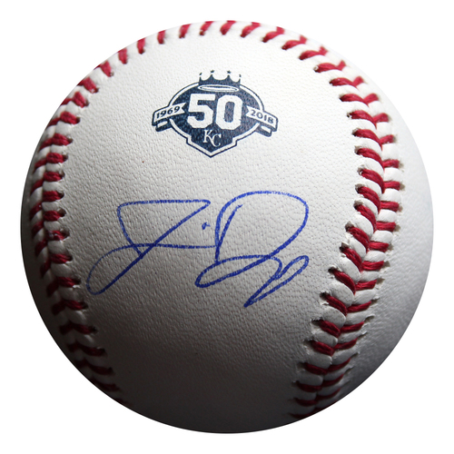 Photo of Autographed 50 Seasons Baseball: Jermaine Dye