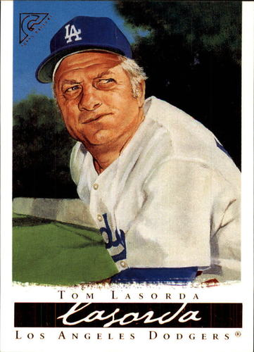 Photo of 2003 Topps Gallery HOF #7 Tom Lasorda  -- Hall of Fame Class of 1997