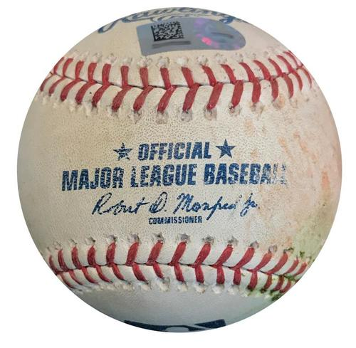 Photo of Game-Used Baseball from Pirates vs. Reds on 9/3/18 - Adam Frazier 2 RBI Single