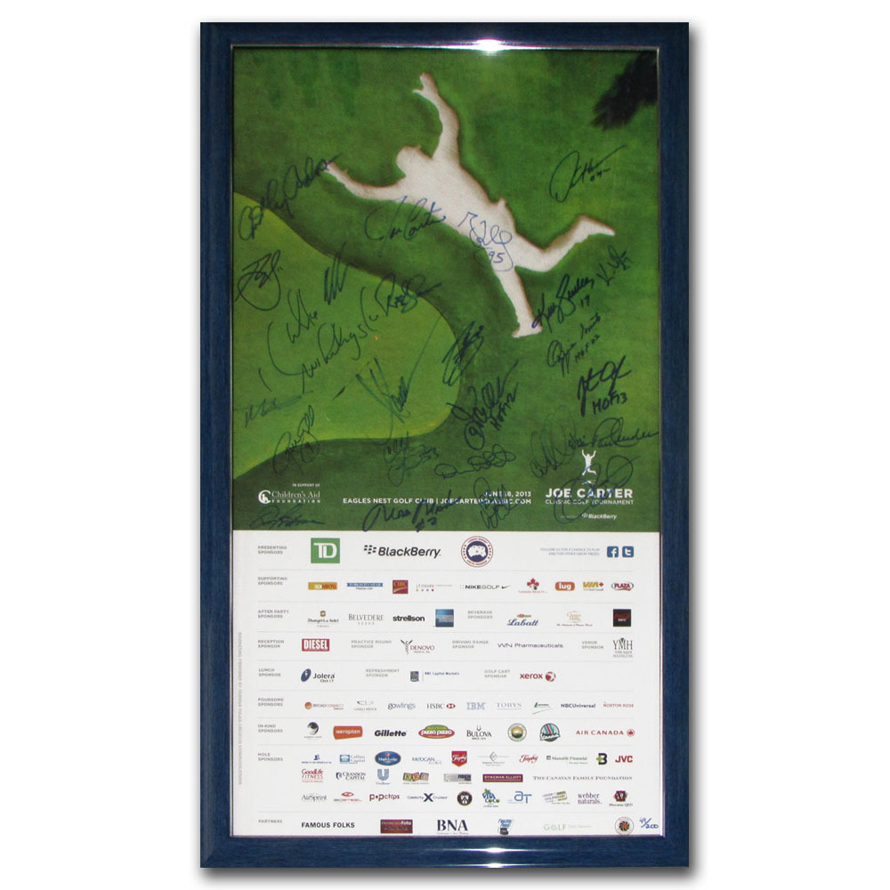 2013 Joe Carter Classic Golf Tournament Framed Poster - Signed by 28 Athletes & Celebrities
