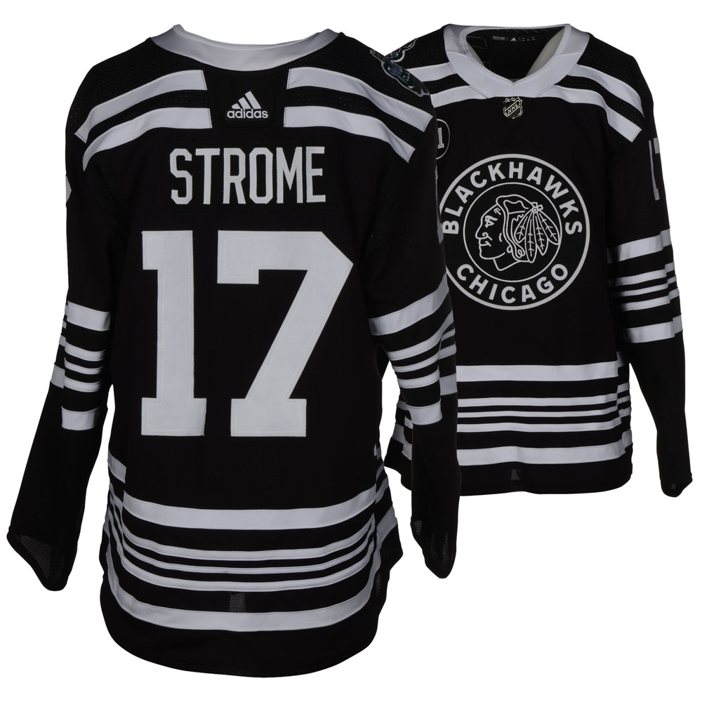 Dylan Strome Chicago Blackhawks Game-Worn 2019 NHL Winter Classic Jersey