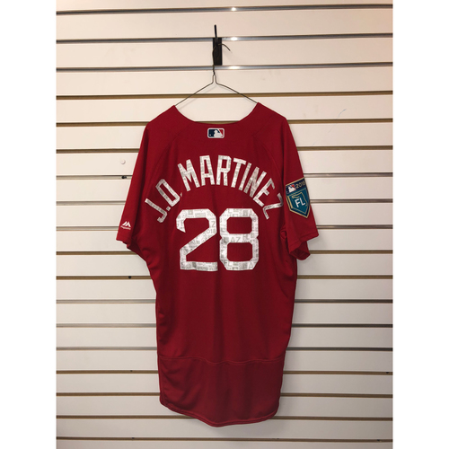 Photo of JD Martinez Team-Issued 2018 Spring Training jersey